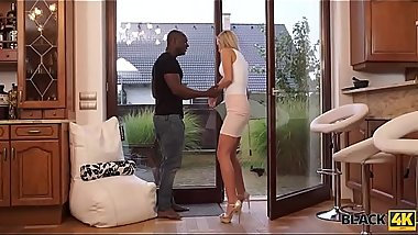 BLACK4K. Big cock of athletic boyfriend can bring sweetie happiness