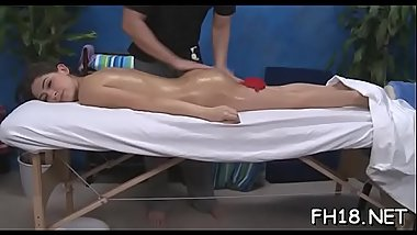 Cute and hot screwed hard by her massage therapist