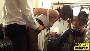 Neck bound euro bdsm sub