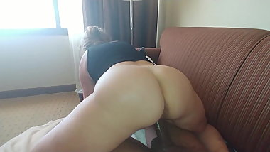 Hotel Maid And BBC Cowgirl ...Wets BBC All Up