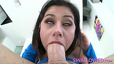 SWALLOWED Penelope Reed face fucked by a big dick