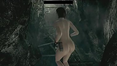 Let's Play Resident Evil HD Remastered Nude Jill Valentine Mod Part 18