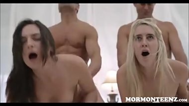 Mormon Teens Family Breeding Foursome With Kara And Kathrine
