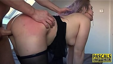Ass dominated sub slut