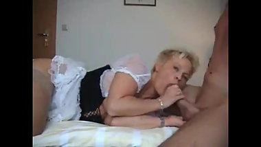 Busty Cougar MILF Hot Sex with Young Lucky Student