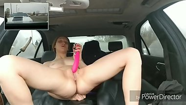 Public masturbation. Did not know someone was in the car in front of me