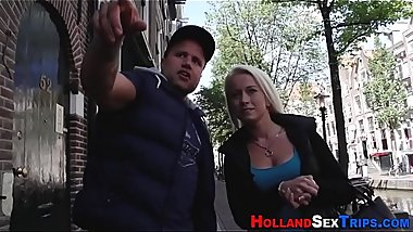 Blonde hooker fingered