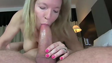 sexy mature milf with big boobs in stocking with young boy