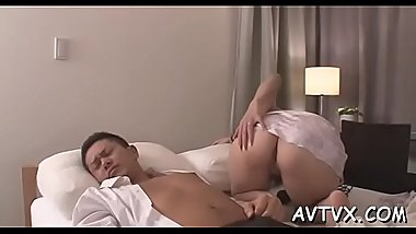 Horny asian gives fantastic oral-sex after unfathomable fingering