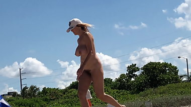 Hairy Milf At Beach 2