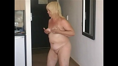 61 year old granny strips on holiday
