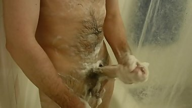 Me Stroking My Cock In The Shower
