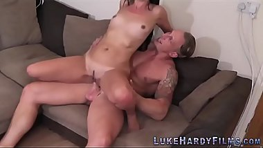 Babes ride Luke Hardy and gobble his big dick