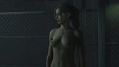 Talon Queen plays Resident evil 2 remake : part 1 (nude modded edition)