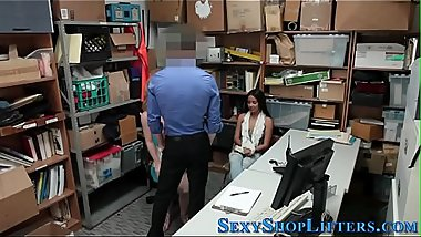 Amateur shoplifter spermy