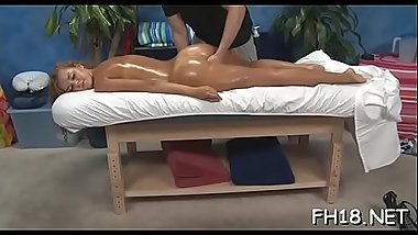 Marvelous babe gets a hard fuck after a carnal massage