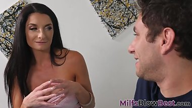 Milf sucking on fat dick