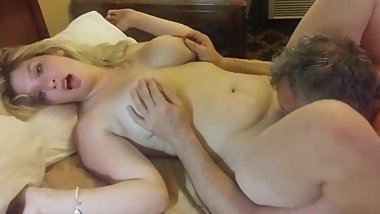 stocky busty wife likes her pussy to be eaten out by ex