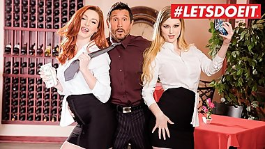 LETSDOEIT - Harassing Boss BLACKMAILED by Two HOT Waitresses