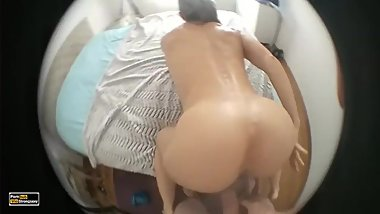 Lucky cock backstage point of view fit ass fuck anal, HD