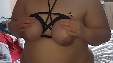 BBW Beth Plays With Her Tied Tits