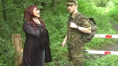 Young Soldier Boy Seduced By Shameless Busty BBW MILF