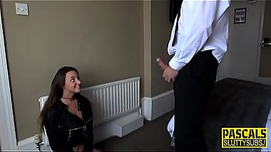 Throat fucked submissive