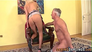 Ass licked babe fucked