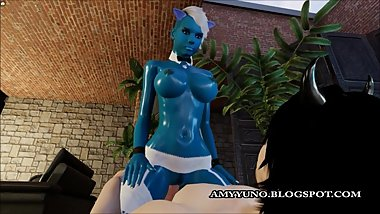 Fantasy Blue Virtual 3D Alien With Big Tits Sucks And Rides A Hard Cock!