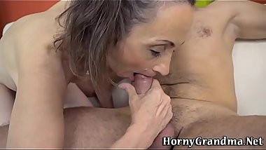 Dick licking pensioner