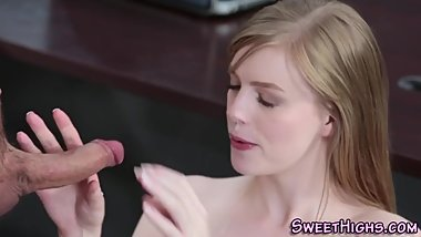 Teen getting mouth jizzed