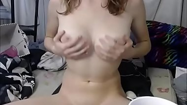 White girl with natural tits