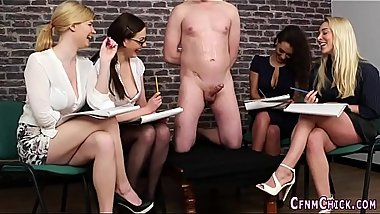 Party dominas tug cock