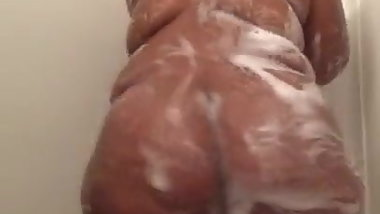 A Big Fat Black Ass In The Shower