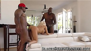 Buxom blonde riding bbcs