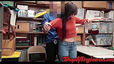 Teen thief gets creampied by cop for shoplifting