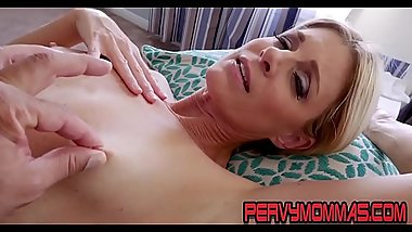 Kinky milf pov riding stepsons cock and giving blowjob
