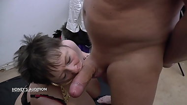 Granny destroyed by a big white cock