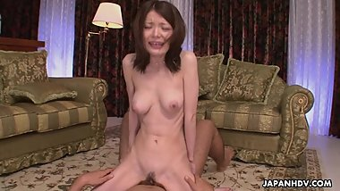 Brunette Asian slut getting her nipple sucked and licked
