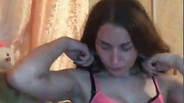 Russian camgirl watching cock