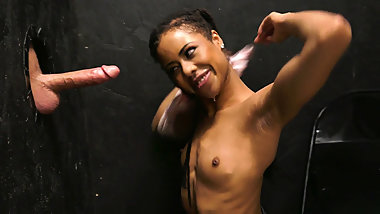 Kira Noir Offers Anal For A Random Guy At A Gloryhole