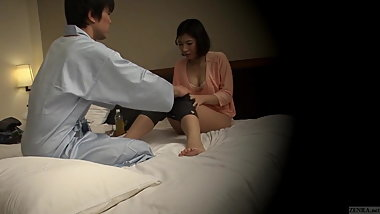 Subtitled Japanese hotel massage oral sex nanpa