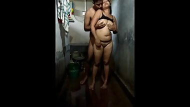Indian new marriage sex in bathroom
