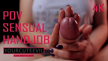Happy unicorn loves to give you a SENSUAL POV HANDJOB with OIL 4K