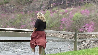 Windy Day in a Skirt