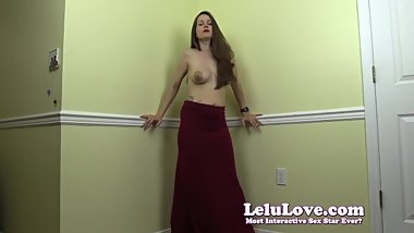 Lelu Love-Topless Dancing In Long Hips Hugging Skirt