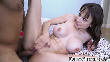 Busty Lexi Luna pussy banged by lucky delivery guy