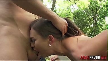 Hot european has anal sex