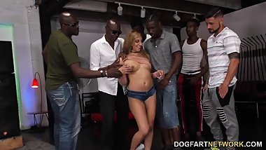 Moka Mora Gets Gangbanged By Black Dicks - Cuckold Sessions
