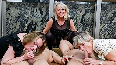 First Ever Granny Orgy! Cock Fest!